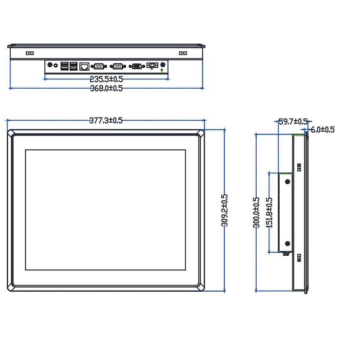 "TPC-2150S 15"" моноблок IP65"