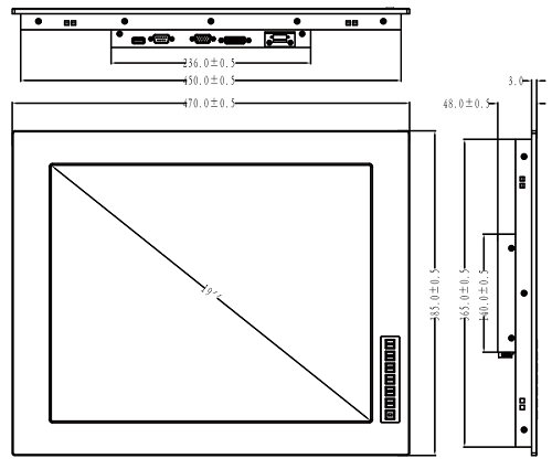 fpm-6190 монитор, резистивный сенсорный экран, Luchengtech