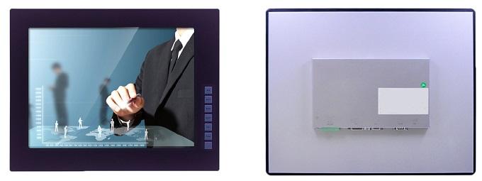 """FPM-6170 17"""" TFT-Panel, промышленный встраиваемый монитор, VGA, DVI, резистивный сенсорный экран для опции"""