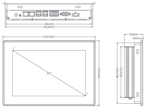 TPC-2101L, i5, человеко-компьютерный интерфейс, Luchengtech