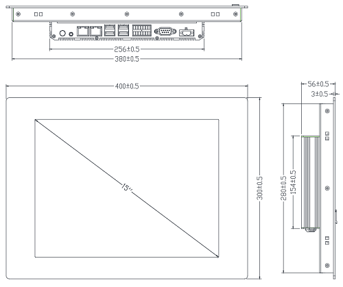 TPC-2150L габаритные размеры
