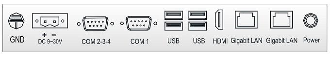 """TPC-8104S 10.4"""" панельный компьютер разъемы"""