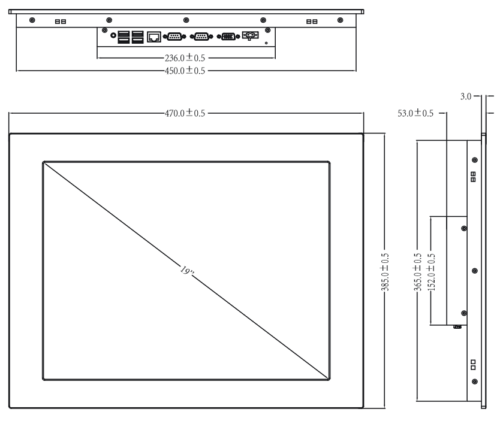 габаритные размеры TPC-8190E