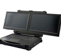 Защищенный ноутбук с двумя экранами